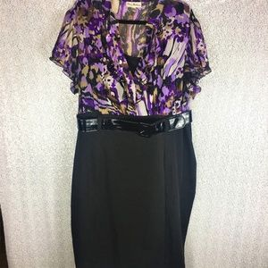 Olivia Matthews Belted Secretary Dress